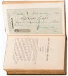 Check Signed by Dickens in a extra Illustrated set of books the Life of Charles Dickens