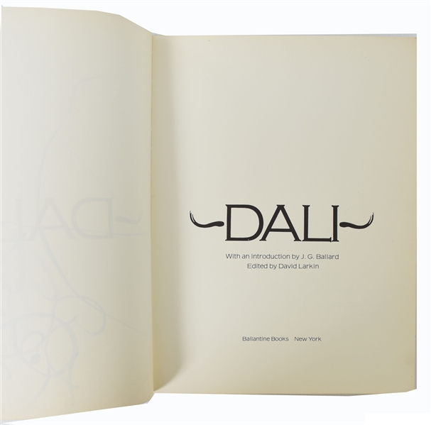 Salvador Dali Original Drawing in Book