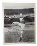Ken Strong & Otto Everett Graham Signed photos by the two Football Hall Of Famers