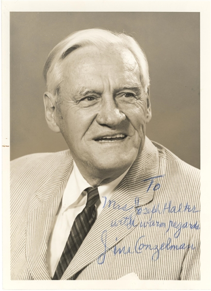 Jimmy Conzelman Signed Photograph