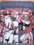 Dan Marino & Joe Montana signed Reproduction  Sports illustrated cover, By Upper Deck