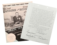 "Rare! George & Ira Gershwin signed contract for ""Shall We Dance"""