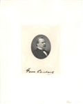 Grover Cleveland signed Engraving