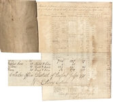 Rhode Island Signer of the Declaration of Independence William Ellery Ledger Signed 12 Times