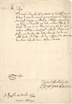 Document signed by Henry ll Duke of Lorraine,Untranslated signed document dated 1616