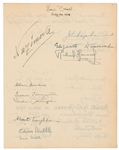 Edwin Hubble Rare Signature