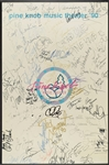 1990 Pine Knob Music Theatre Multi-Signed Poster