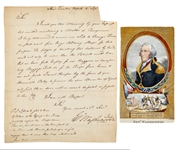 1776 Washington Letter Washingtons Concern for his Troops in Long Island, New York