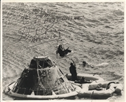 Apollo 14 Signed Photograph of Earth Landing.