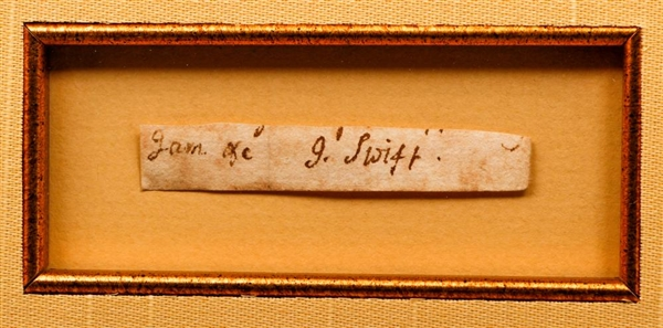 Very Rare Jonathan Swift Autograph (Gulliver's Travels)