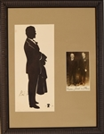 "Gene Tunney. Full-length silhouette signed, ""Gene Tunney and Jack Dempsey photo"