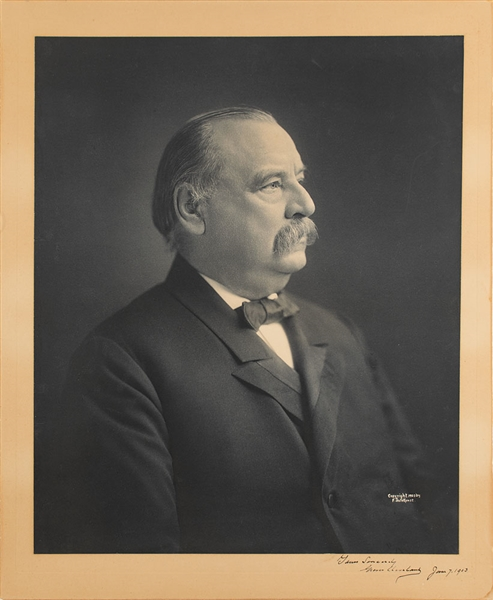 Grover Cleveland Signed Oversized portrait