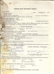 Judy Garland Show signed contract November 6, 1963 for Diahann Carroll
