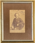 CHANGED: Please note it is Joseph Hollman Signed Cabinet Card