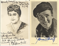 "Jimmy Stewart and Josephine Hull ""Harvey"" related signed photos"