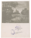 Pierre Renoir Signed art photo